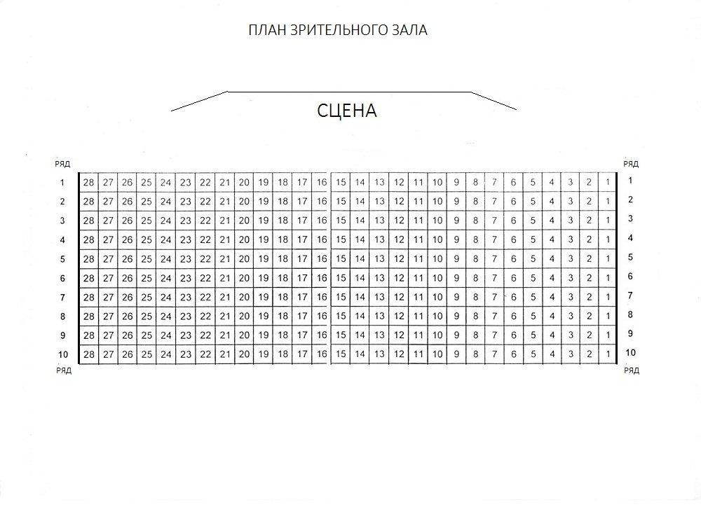 Схема зала Театральный центр им. Вс. Мейерхольда