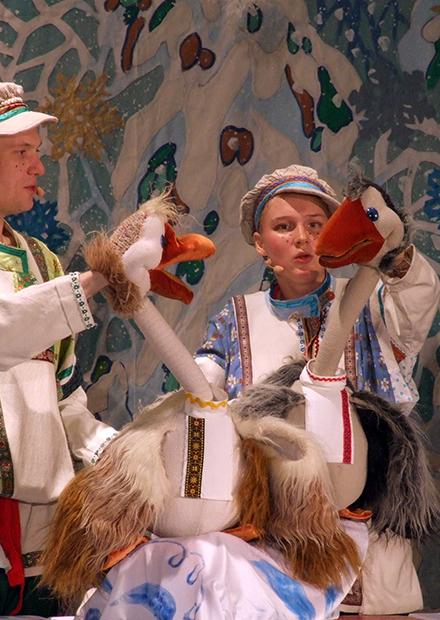 Зимняя сказка про гусей. Зона подарков