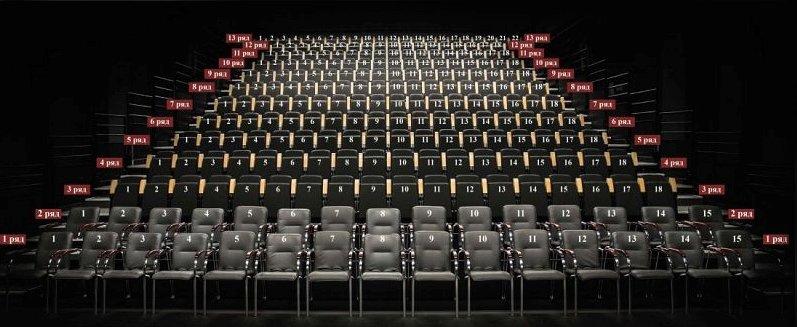 """Схема зала Театр """"Сатирикон"""" на Новой сцене Театра им. Вахтангова"""