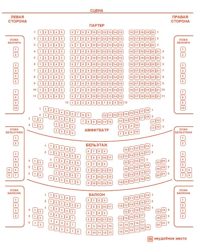 Схема зала Государственный театр наций