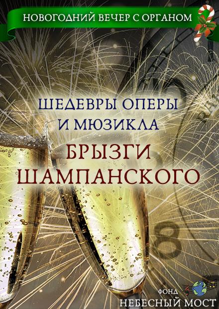 Новогодний вечер с органом. Шедевры оперы и мюзикла. Брызги шампанского