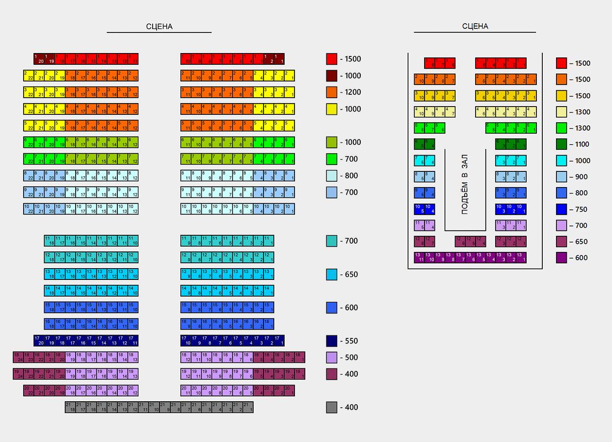 Схема зала Театр п/р Геннадия Чихачева
