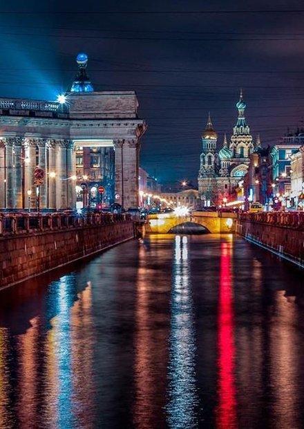 Ночной Петербург