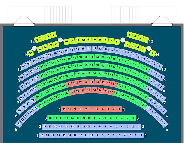 Схема зала Театр киноактера