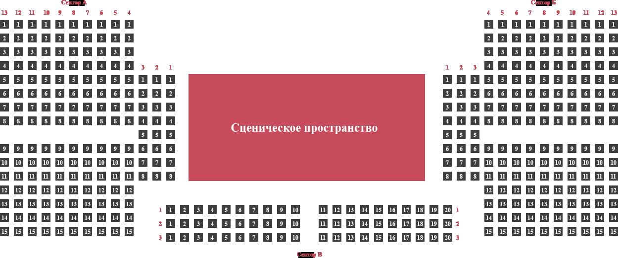 """Схема зала Причал """"Крымский мост"""""""