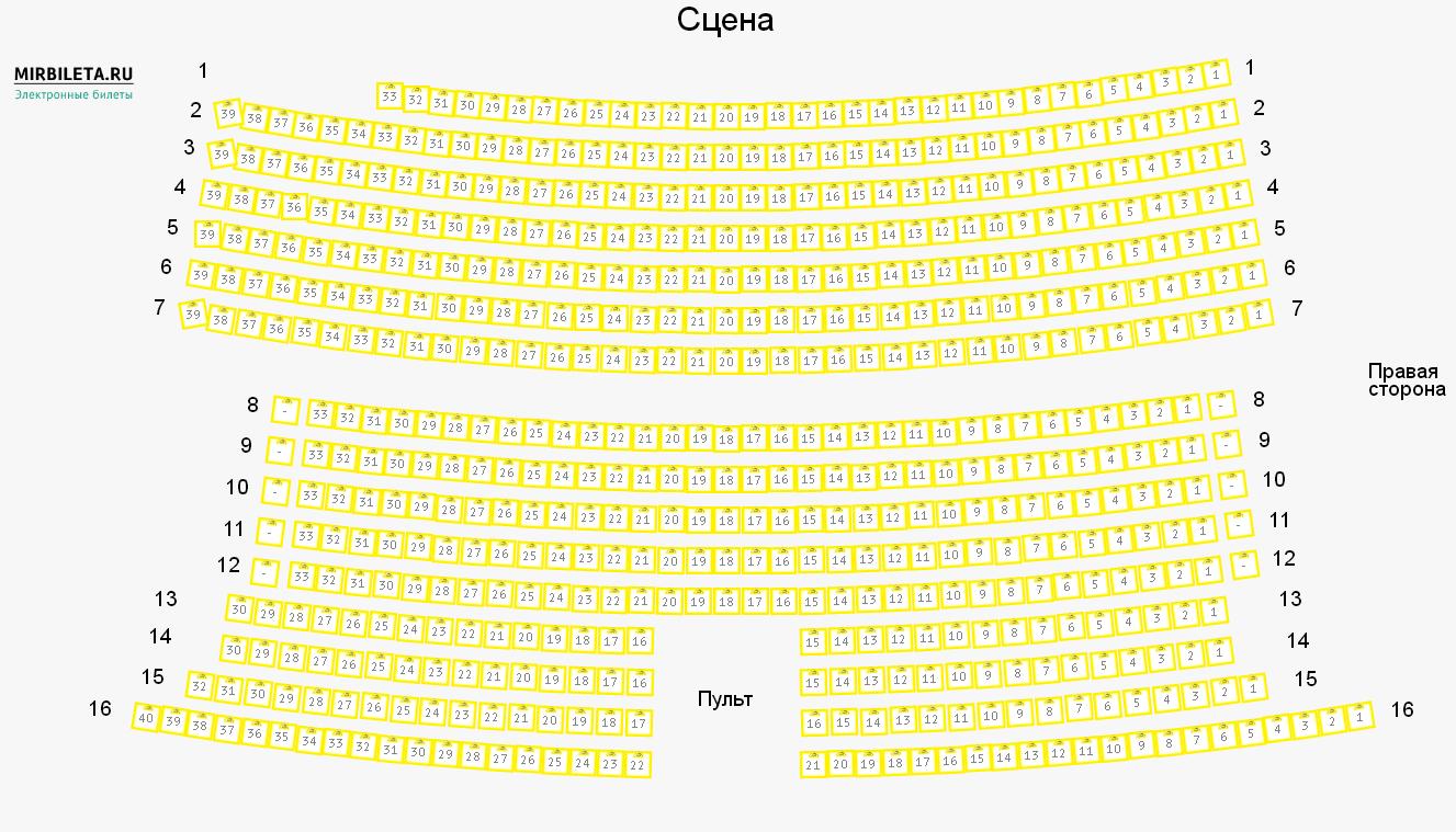 Схема зала Москонцерт Холл