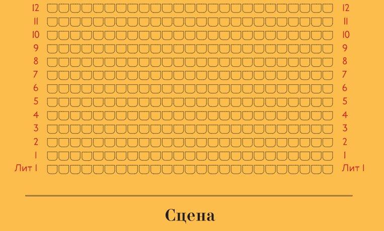 Схема зала Новая сцена Александринского театра
