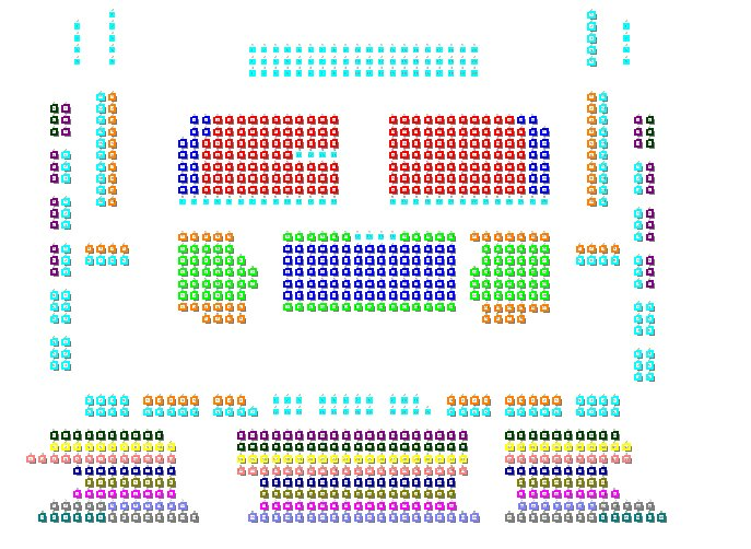 Схема зала Театр оперы и балета им. М.И. Глинки (Челябинск)