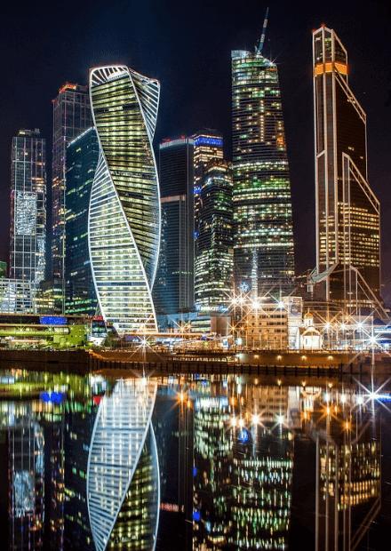 Огни большого города - иллюминация Москвы
