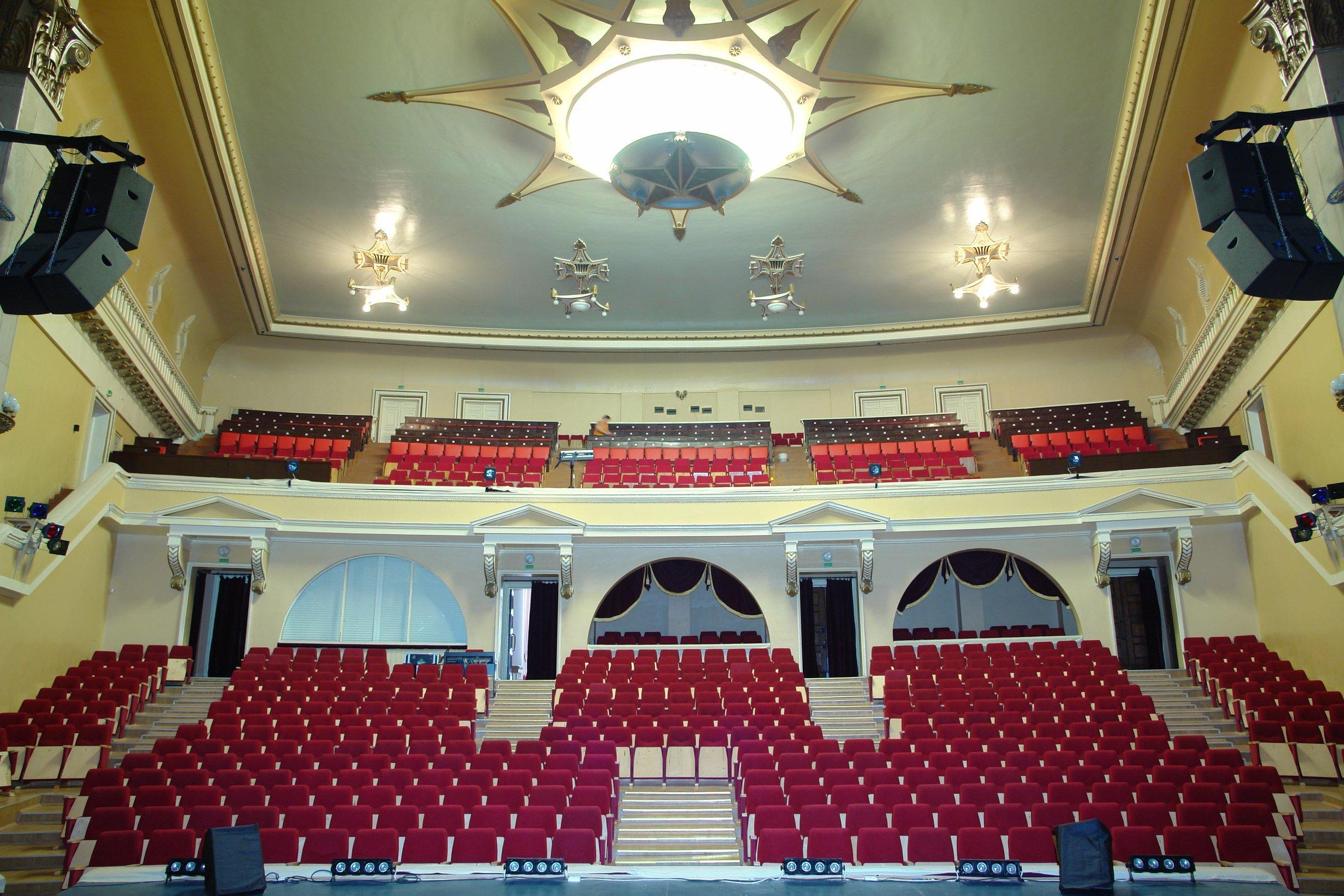 Схема зала Окружной Дом офицеров (Екатеринбург)