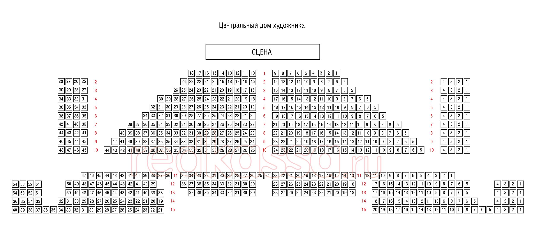 Схема зала ЦДХ