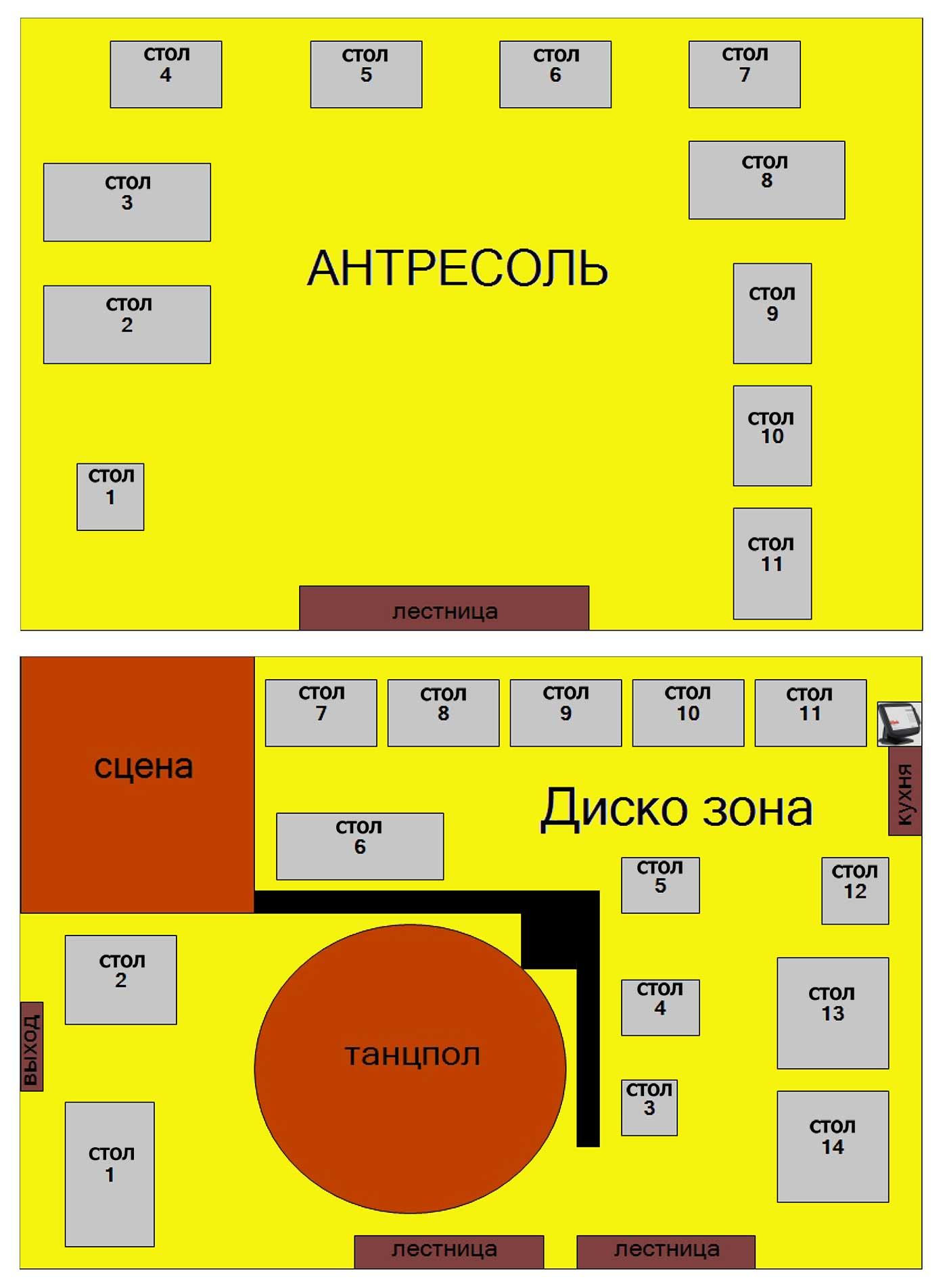 """Схема зала Ресторан """"Union Jack"""" (Нижний Новгород)"""
