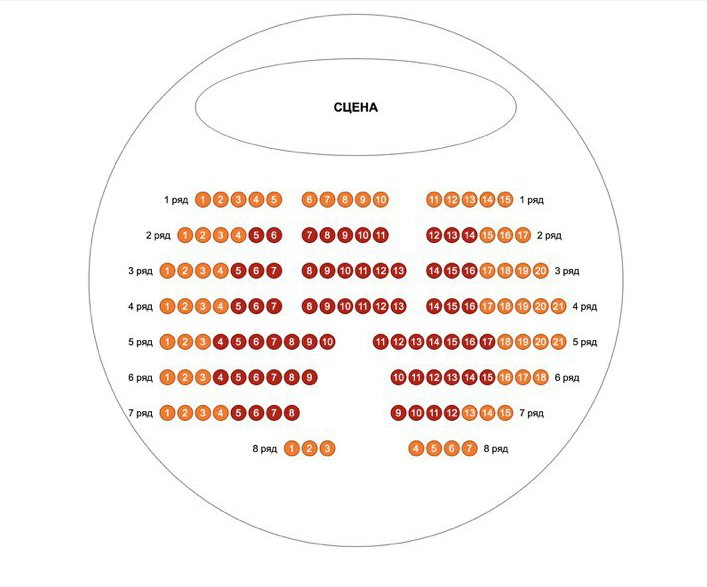 """Схема зала Иммерсивный театр """"Атма360"""""""