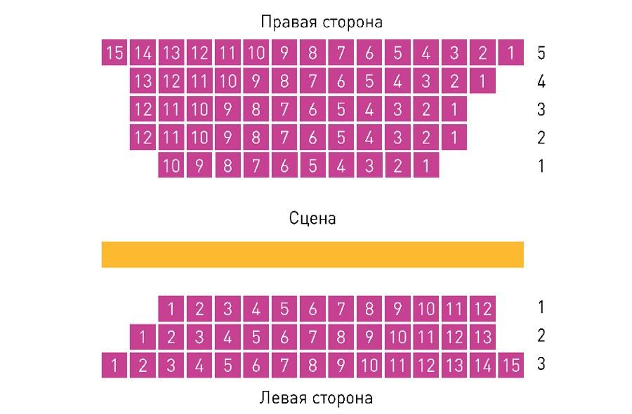 Схема зала Филиал Театра им. Пушкина