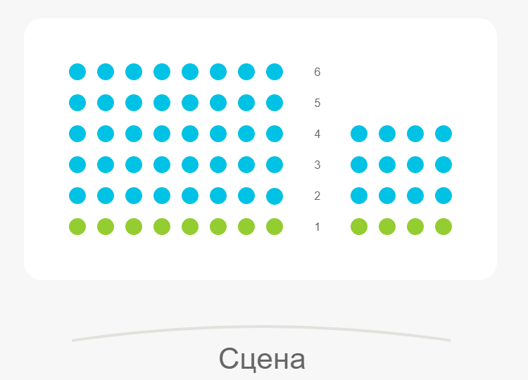Схема зала Театр на Сухаревской