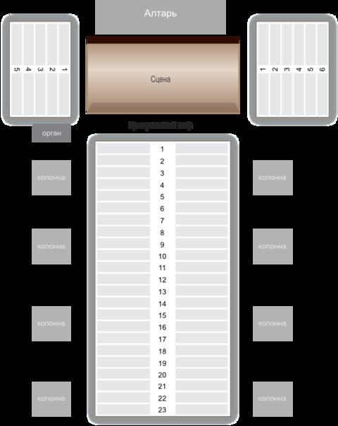 Схема зала Римско-католический кафедральный собор