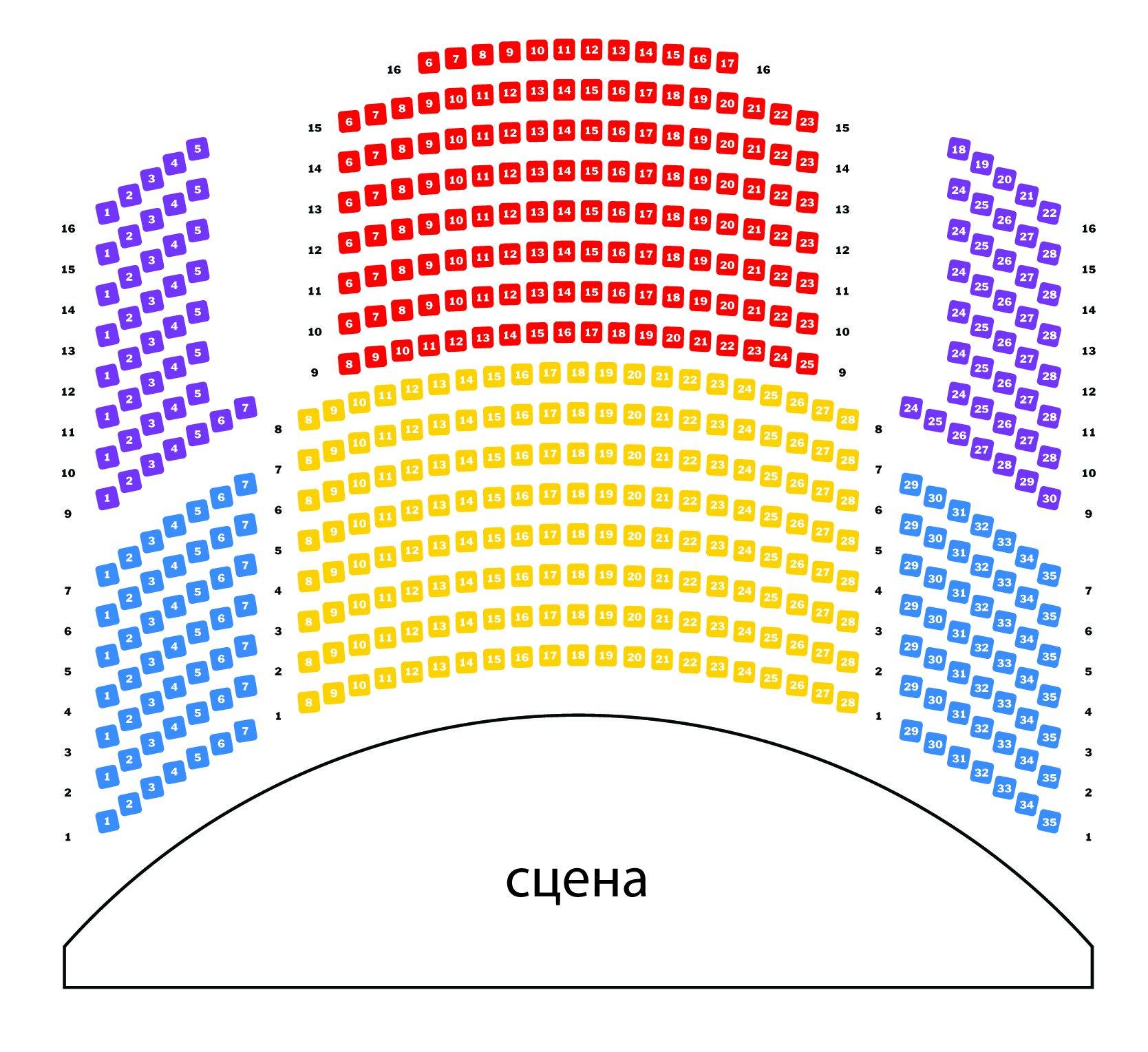 """Схема зала Концертный зал """"Оркестрион"""""""