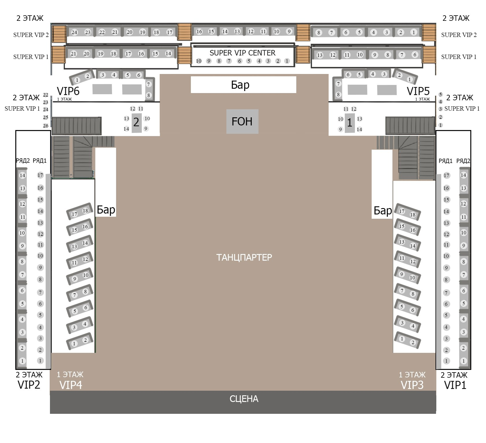 Схема зала Гигант-Холл (Санкт-Петербург)