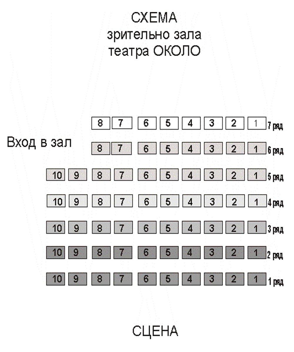 """Схема зала МТ """"Около дома Станиславского"""""""