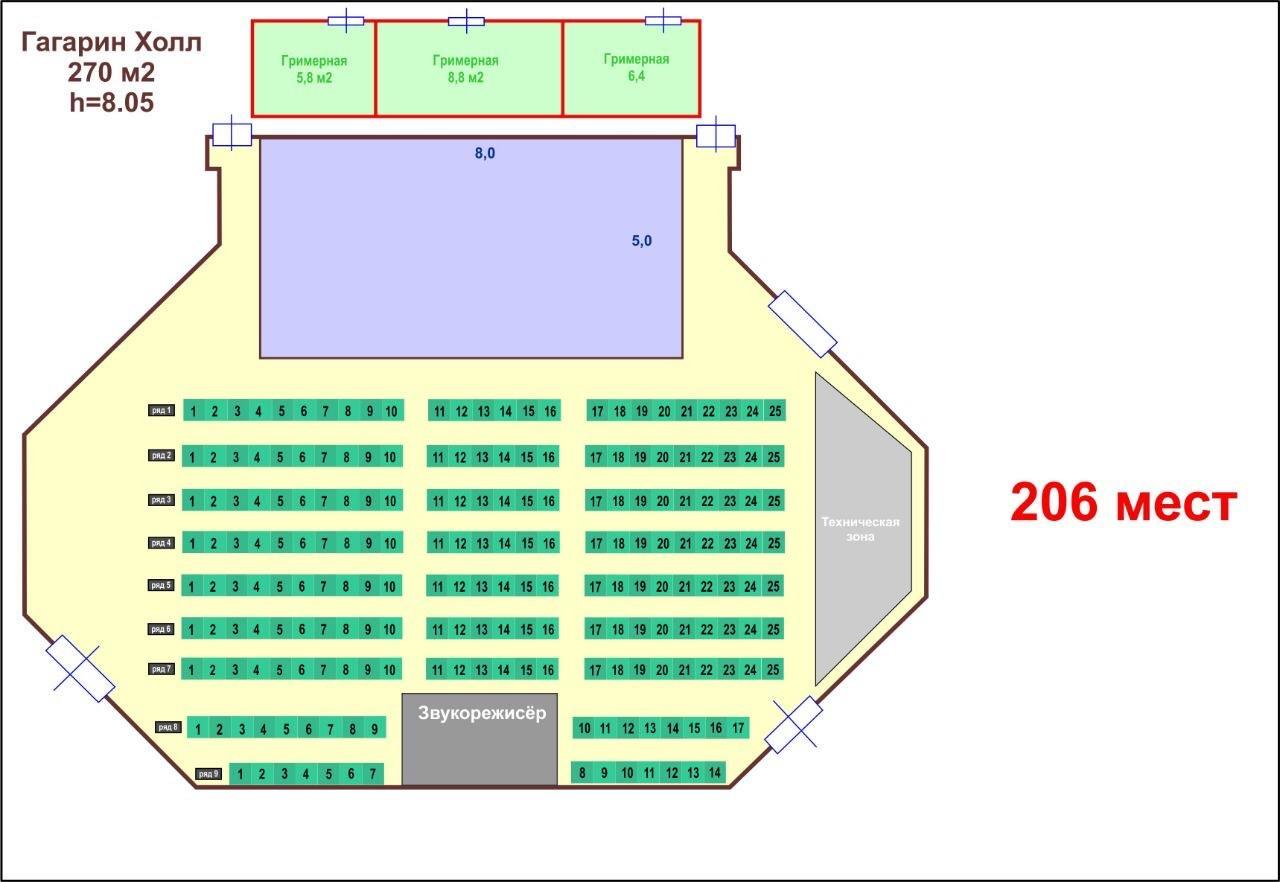 Схема зала ММКЦ (Московский многофункциональный культурный центр)
